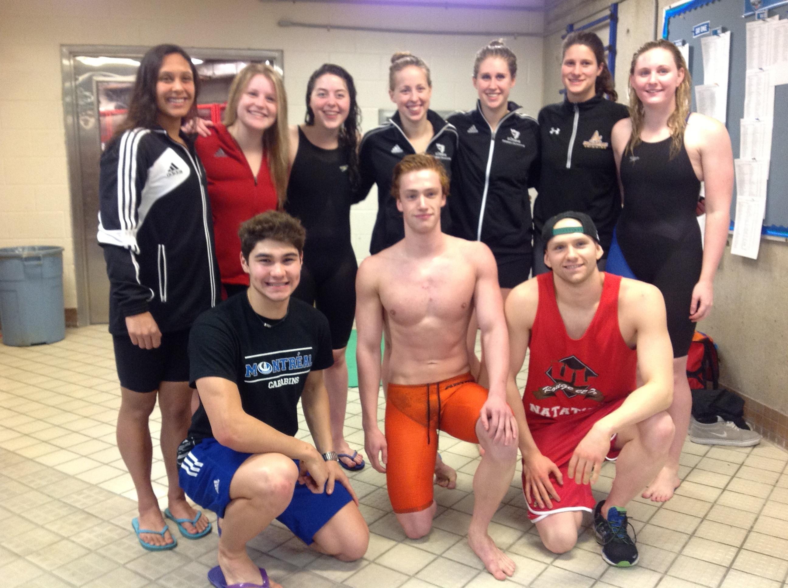 New Brunswick swimmers at CIS